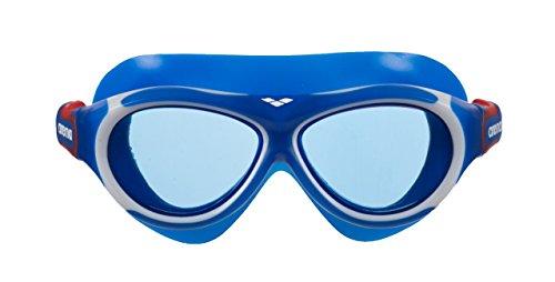 arena Kinder Unisex Schwimmmaske Brille Oblò Junior (Verstellbar, UV-Schutz, Anti-Fog Beschichtung), blau (Blue-Blue), One Size