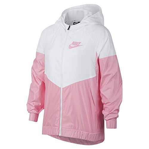 Nike Girls NSW WR Jkt HD Chaqueta cortavientos para niña, AA1343-102. White/Pink S