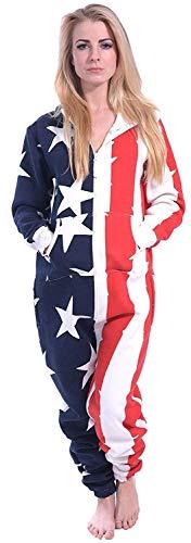 Newfacelook mit Kapuze - USA Flagge