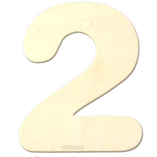4 Wooden Number 4mm Thick About 3-1/4 Wide Number (2) Unfinished Plywood Number