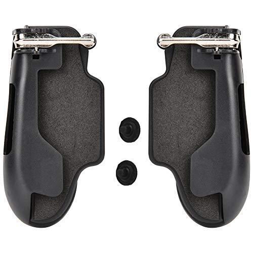 Diyeeni Controlador de Juego móvil, Botón de Objetivo de gatillo de Palanca de Joystick de Juego de Cuatro Dedos, Mango de Controlador de Juego Integrado para Tableta para iPad
