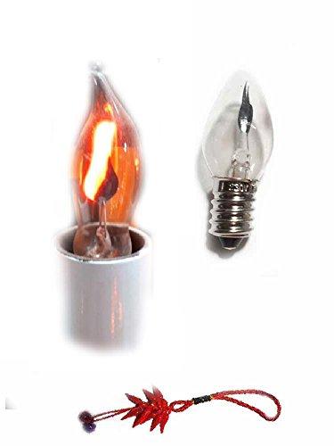 Genérico recibe solo bombilla 1 luz alta 10 cm efecto fuego conexión pequeña eléctrica 220 V para Belén San Gregorio Armenio artesanales Shepherds Crib regalo llavero