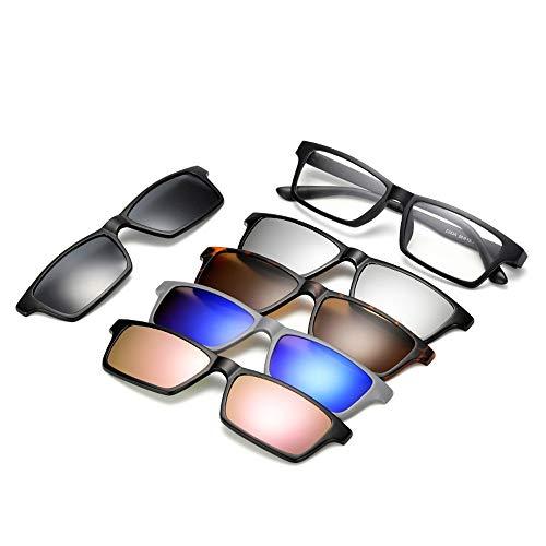 QQBL Polarisierten Sonnenbrillen, Six-in-one Spiegel, Fünf-Stück Magnetic Suction Spiegel, Unisex Outdoor-Driving-Strand-Sonnenbrille