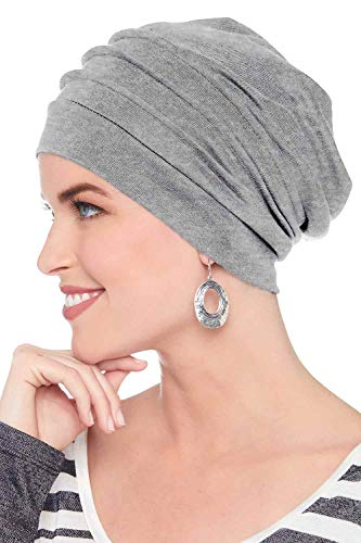 Headcovers Unlimited Slouchy Snood-Caps for Women with Chemo Cancer Hair Loss (Grey Heather)