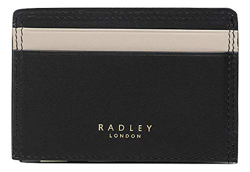 Radley 'Cotton Street' Small Leather tab cardholder Black