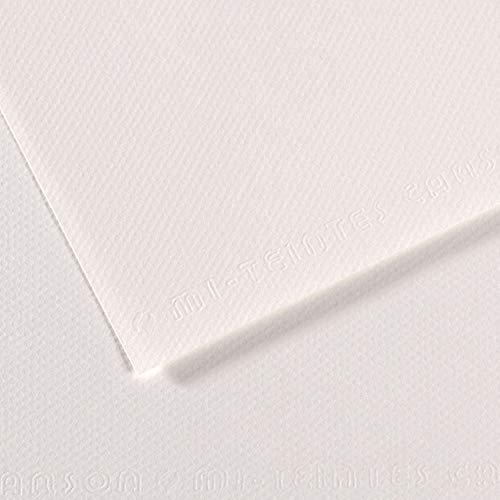 Canson Mi-Teintes 60% Abeja 160g Pack 25 Hojas A4 Blanco Nube