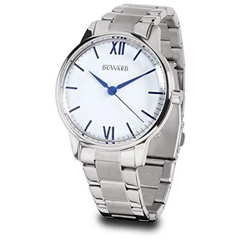 Reloj Hombre duward en Acero,Esfera Blanca,Agujas Azul.3ATM.D95303.05