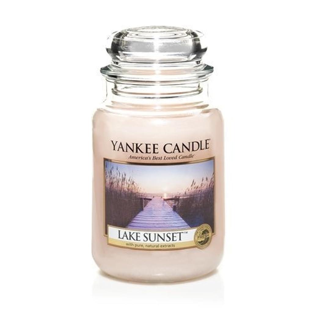 かんがい絶滅させるプレーヤーYankee Candle LAKE SUNSET 22 oz Large Jar Candle - New for Fall 2013 by Yankee Candle [並行輸入品]