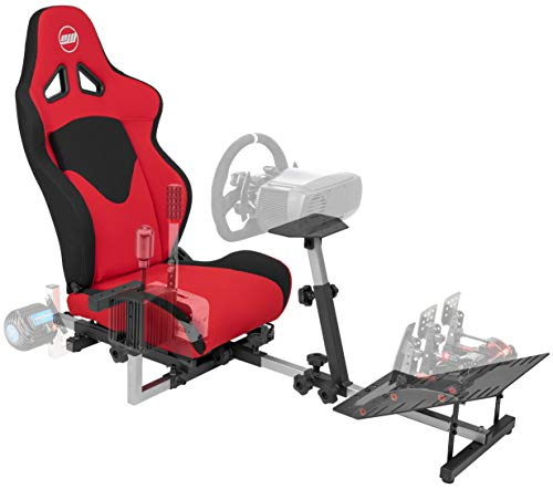 OpenWheeler GEN3 Racing Wheel Stand Cockpit Red on BLACK   Fits All Logitech G923   G29   G920   Thrustmaster   Fanatec Wheels   Compatible with Xbox One, PS4, PC Platforms