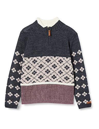 NAME IT Mädchen NKFWRISS.A Wool LS Knit Turtleneck XX Pullover, Flint, 146-152