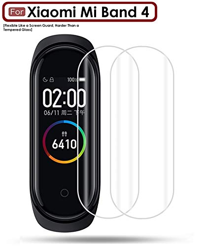 WOW Imagine Screen Scratch Guard Protector Film for Xiaomi Mi Band 4 (Pack of 2) - Transparent