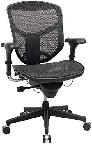 WorkPro Quantum 9000 Series Ergonomic Mid-Back Mesh/Mesh Chair, Black