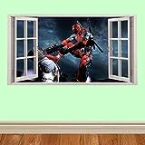 Avengers Marvel Wand zerschlagen späht Kinder-Lieblings-Charaktere 100cm Wandtattoo, Vinyl, Motiv: Wandkunst, Customise4U (deadpool window)