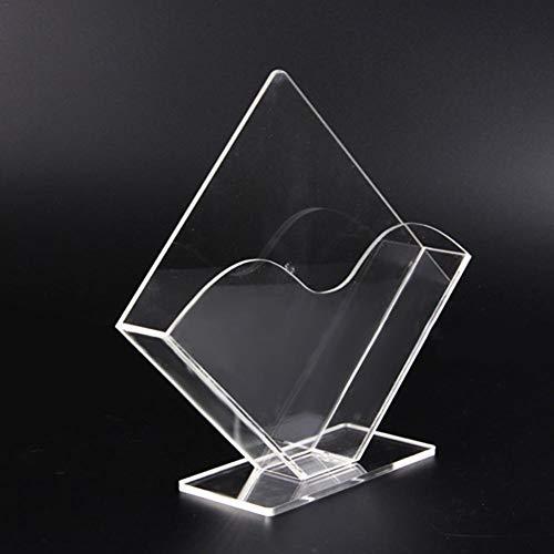Lembeauty Servilletero de acrílico transparente vertical de papel toallero dispensador de pañuelos faciales caja para encimera de cocina en el hogar