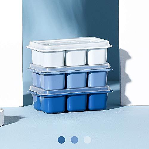 bac glacon,ensemble de trois pièces en silicone bac glacon avec couvercle peut être empilé pour la gelée de bonbons au pouding,le jus de lait,le moule à chocolat ou le whisky à granulés de cocktail