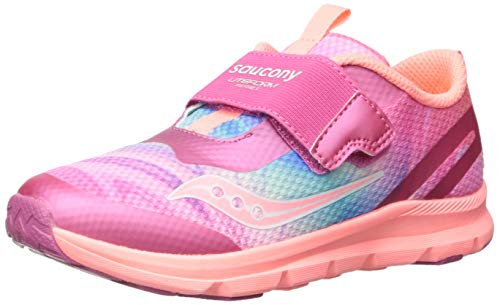 Saucony Baby Liteform Sneaker, Pink/Multi, 045 Extra Wide US Toddler -  SL160882-650-045 Extra Wide US Toddler