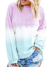 Morton PegfwaS Camicia da Donna Allentata A Maniche Lunghe con Scollo Tondo A Maniche Lunghe Casual Nuova Primavera E Autunno