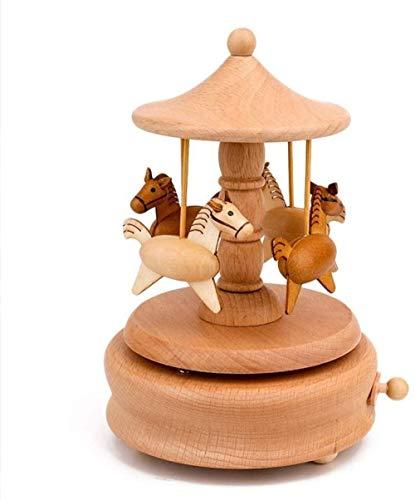Byrhgood carillon carillon con decorazione in legno semplice intagliato a mano compleanno bambini (colore: a)-UN