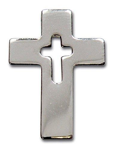 MaMeMi Anstecknadel 'Kreuz silberfarben'