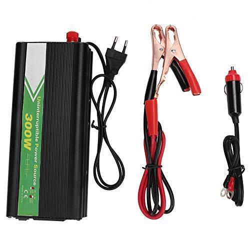 Inversor de corriente 300W energia movil Coche UPS Inversor de coche Inversor fuera de la red 12V a 220V para coche y exterior