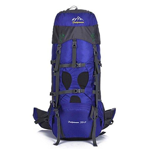 SZH&BEIB Sac à dos de randonnée très grande capacité 70 + 5L pour le sac de camping Voyage en plein air en nylon imperméable , E