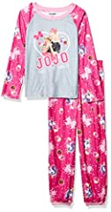 Jojo siwa: dance the night away with JoJo in these super fun pajamas! Realize your limitless potential when dreams of big bows and embracing being yourself come to life! Officially licensed Nickelodeon product. Fleece set: play, sleep, dream, repeat ...