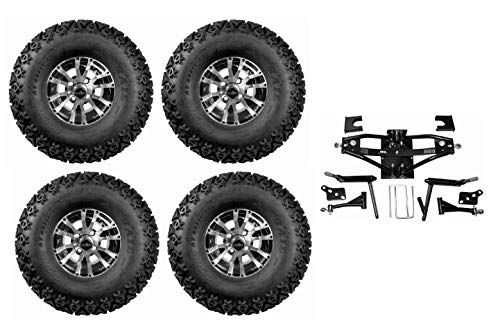 3G Deluxe 6. Lift Kit Combo for Club Car DS Golf Carts 1984-2003 with 10. Wolverine