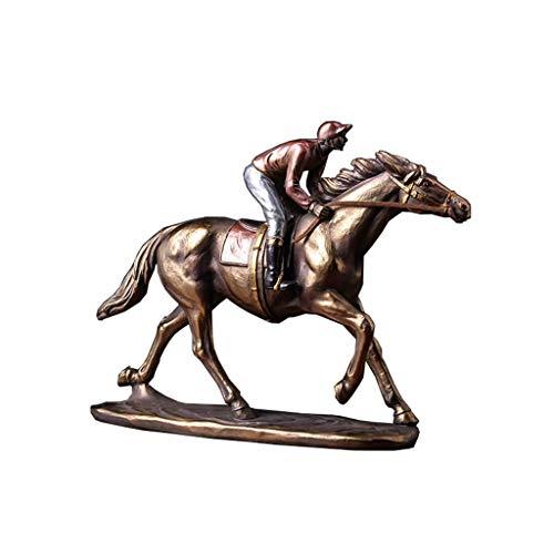 Vintage Cheval Racing Modèle Décoratif en résine imitation cuivre, accessoires de maison, armoire à vin, bureau pour la maison jardin