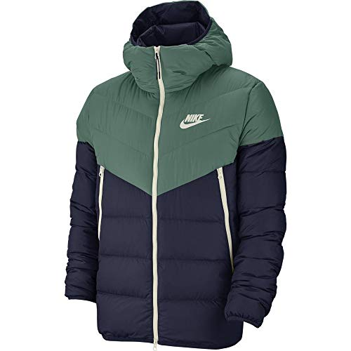 Nike M NSW Dwn Fill WR JKT HD Hooded Jacket, Herren M Küstenfarbe/obsidianfarben/obsidianfarben/Segelfarbe