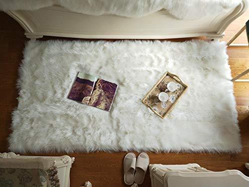 N/ JXBDT - Cojín Ovalado de Lana de Peluche para sofá, Dormitorio, Cama, balcón, balcón o balcón con Cristal de Color Blanco, 180 x 250 cm