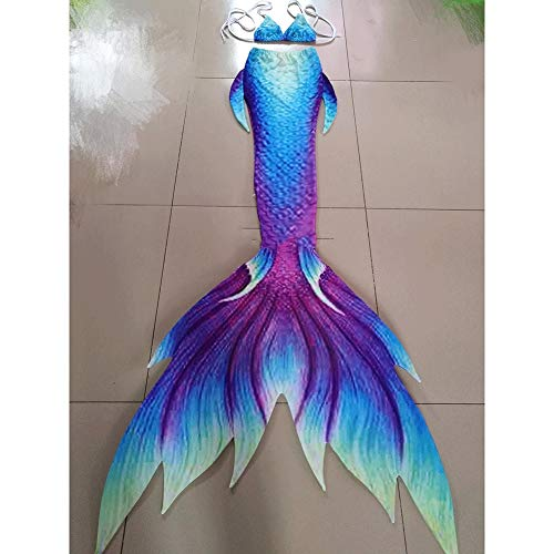 Soft and Comfortable Mermaid Tails with Monofin Swimsuit, Swimsuit Mermaid Tail Tailored, for Swimming with Monofin Mermaid Tails, Mermaid Tai Mermaid Tails with Monofin Swimsuit (Color : Style B)