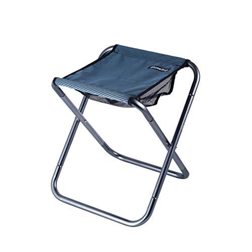 JONJUMP Taburete de camping al aire libre plegable silla de aleación de aluminio silla de pesca gruesa taburete de senderismo asiento plegable