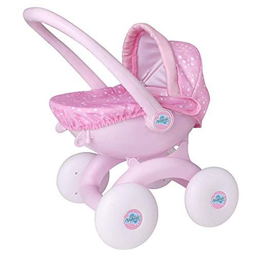 HTI Toys Dream Creations 4-in-1-Spielzeug für Baby-Puppe, Kinderwagen, ideal für Mädchen und Jungen ab 3 Jahren