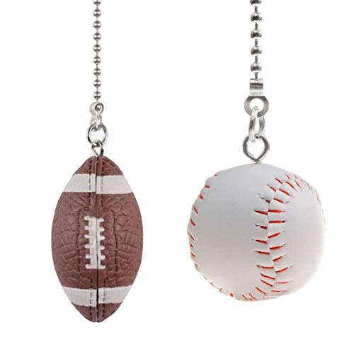Sports Ball Ceiling Fan Pull Chains, Baseball and Football...