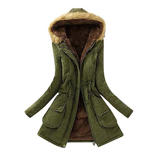 N\P Abrigo de manga larga para mujer con capucha