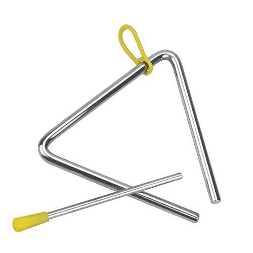 5' Instrument de triangle, YMWALK batteur de Triangle musical percussion instrument en métal école de musique jouet enfants cadeau