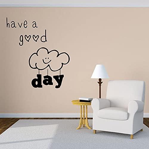 Zdklfm69 Adesivi da Parete Adesivi Murali Bellezza Buona Giornata Creativa Personalizzata per la Decorazione delle camere dei Bambini Decalcomanie in Vinile 58x65cm