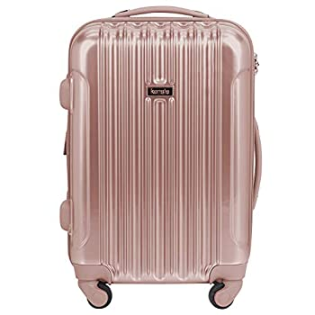 kensie Women s Alma Hardside Spinner Luggage Rose Gold Carry-On 20-Inch