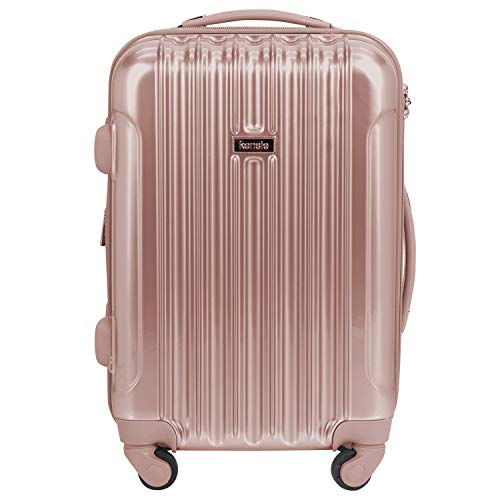 kensie Women's Alma Hardside Spinner Luggage, Rose Gold, Carry-On 20-Inch