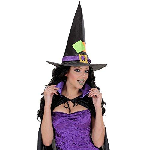 Amakando Set sorcière avec Ongles Faux Cils Maquillage Scintillant magicienne Noir Gothique Punk Girl Accessoire déguisement Carnaval Horreur