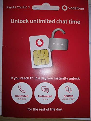 Vodafone PREPAID SIM- Inklusive NANO/MIKRO & STANDARD SIM - für Iphone 4, 4S, 5, 5S, 5C, 6, 6S, 6 GALAXY S3, S4, S5, S6, S6-Edge/ ALLE Nokia Gerät/Alle HTC/LG Gerät- Unbegrenzte Anrufe, Text & Daten- > MOBILES DIRECTS COMMUNICATIONS LTD