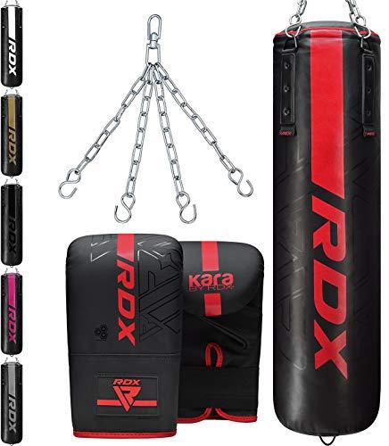 RDX Sac de Frappe 4ft 5ft et Gants Kit pour Boxe D'entraînem