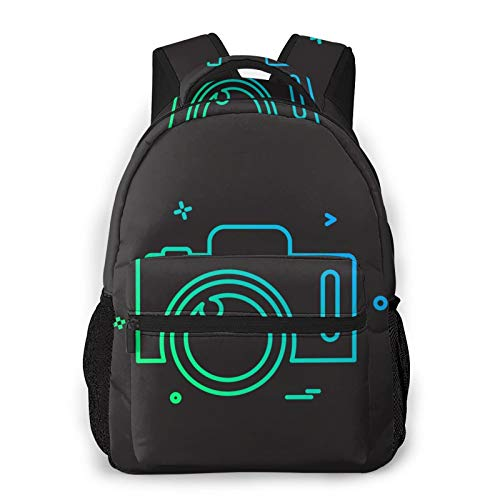 U/K Odiahwaj Camera Icon Design Simple 15.6-Inch Computer Bag Student/Office Worker
