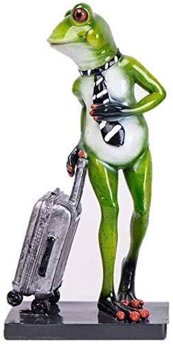 Etrustante Frog Estatua Escultura Discotecas Regalos Decoración del hogar Estatuillas Sala de Estar Decorativa Porche Gabinete de Vino Estante (Color: FrogwearingaHat) (Color : A)