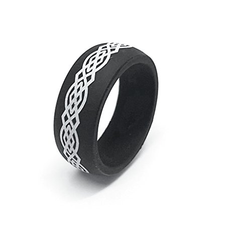 GiftsWithThought 9MM Men or Ladies Flexible Silicon Rubber Celtic Knot Design...
