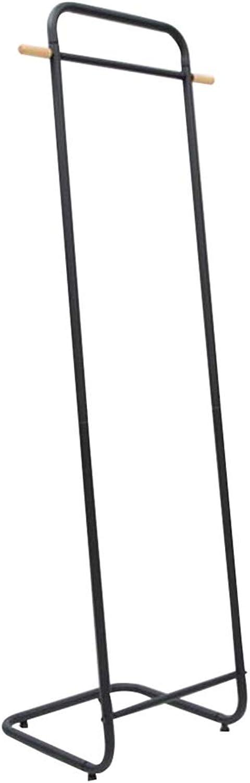 JIAYING Coat Racks Floor Coat Rack, Modern Minimalist Bedroom Living Room Door Hanging Clothes Rod Lengthened Black Metal Coat Rack Bearing 30kg Multifunction