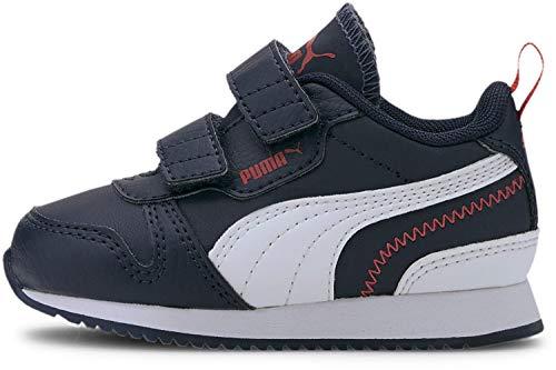 PUMA Unisex-Child R78 Sneaker, Peacoat-White-High Risk Red, 6 M US