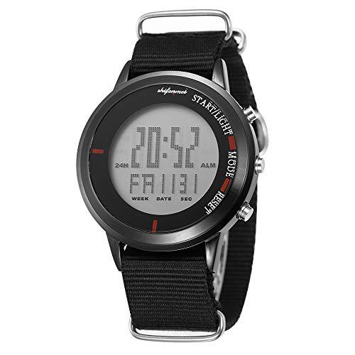 Shifenmei Digitaluhren Wassedichte Sportuhr Dünne Digitale Uhren mit Wecker, Stoppuhr, Timer, Kalender, LED beleuchtet für Jungen Märdchen