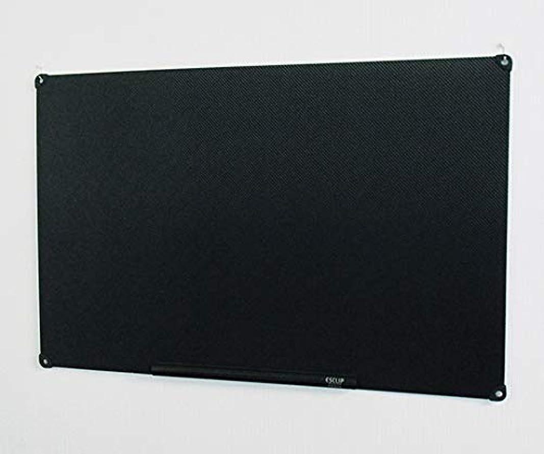 飲食店植物学所得アズワン 静電気吸着式掲示板 ESCLIP(R) 1000×650×3mm 黒/3-9631-02