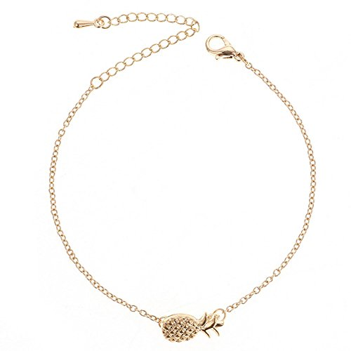 Dosige 1 Stück Damen Ananas-Stil Armbänder Armreif Bracelet Armband Mädchen Perfekt als Geschenk oder Überraschung (Golden)